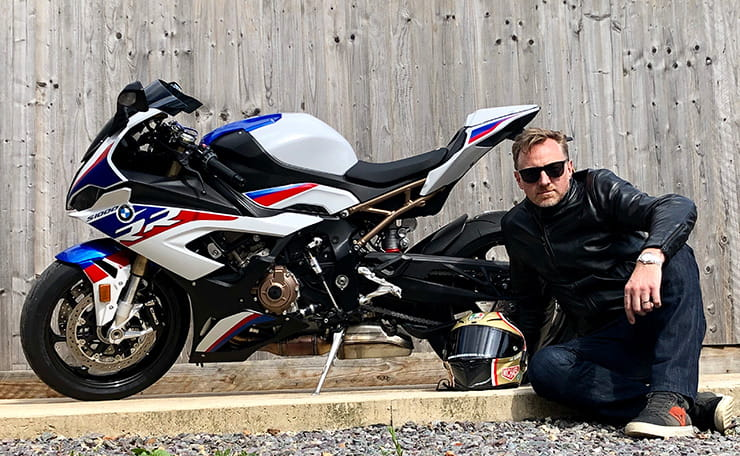Mann poses with 2019 BMW S1000RR