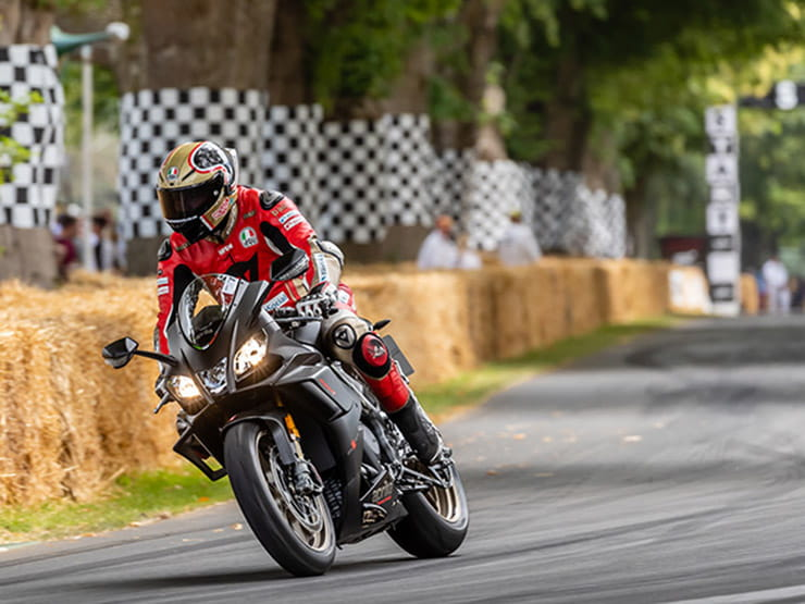 Aprilia RSV4 1100 Factory at Goodwood Festival of Speed 2019