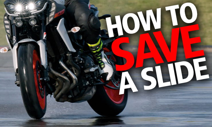How to save a motorcycle rear wheel slide