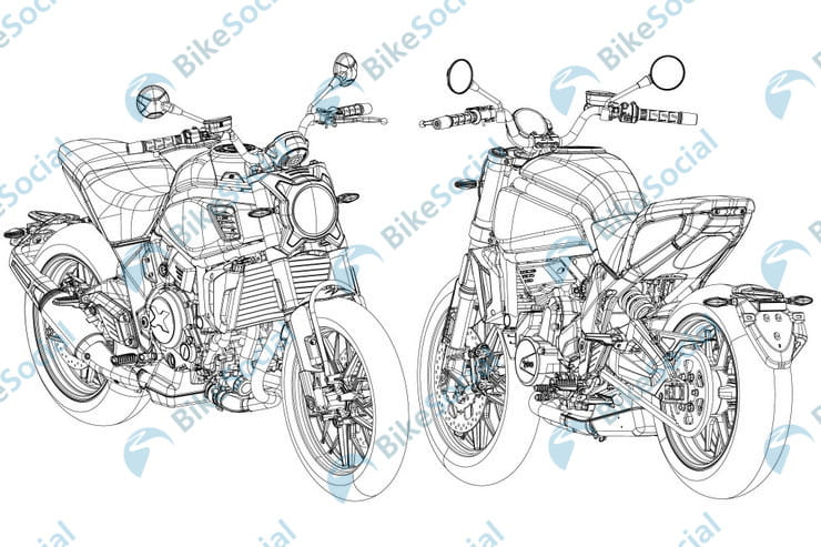 CFMoto 700cc twin revealed in design drawings