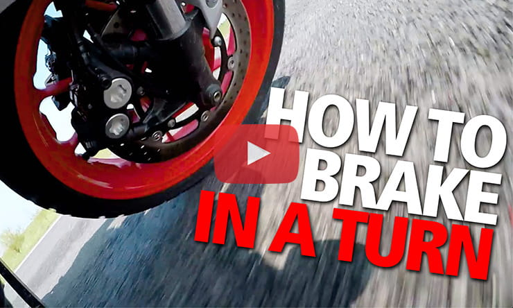 How to brake in a turn or corner