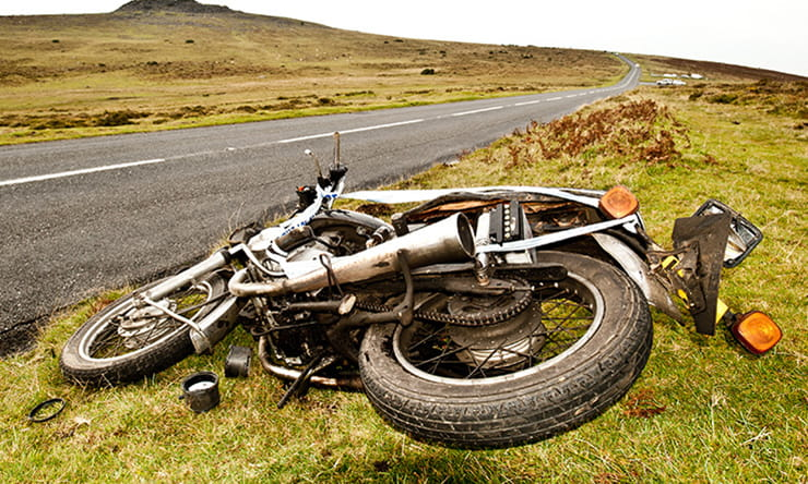 The first time you come across a motorcycle crash scene it's easy to panic and make crucial errors. Here's what to do.