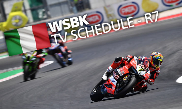 World Superbikes TV Times Round 7 Misano