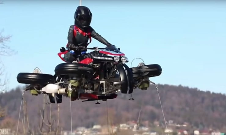 Lazareth demonstrates its flying bike