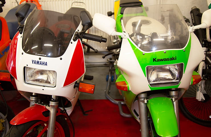 THE YAMAHA TZR125 AND KAWASAKI KR150