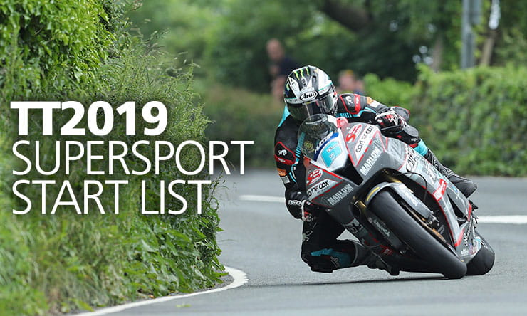 2019 Monster Energy Supersport Races Start List