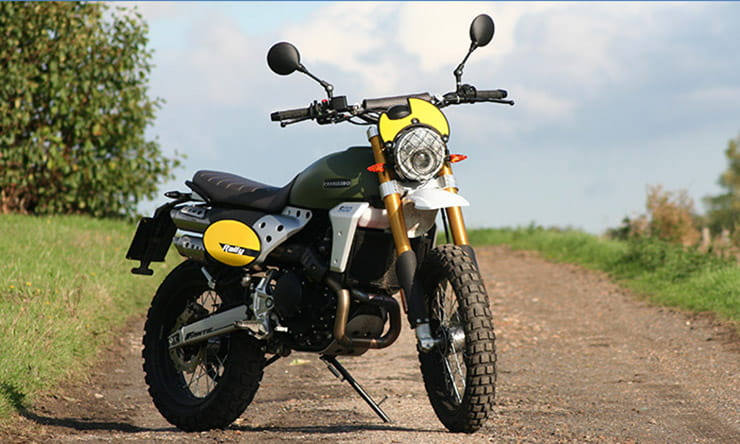 Fantic Caballero Rally  – the seven grand, single-cylinder, 500cc scrambler with extra off-road ingredients