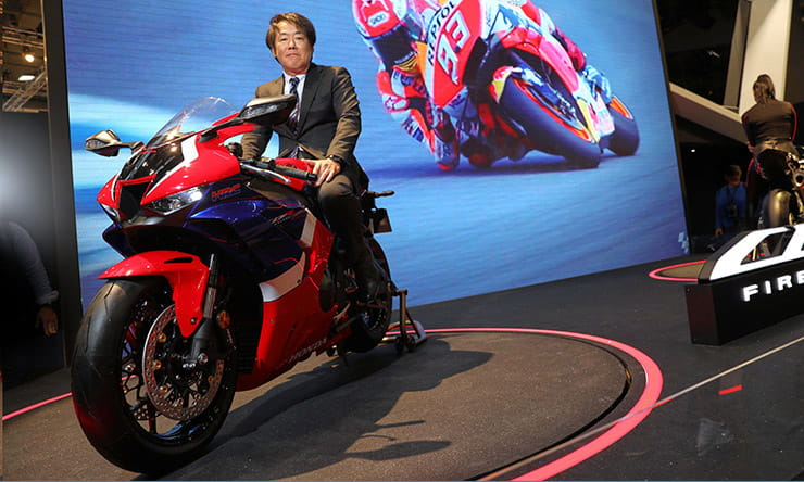 2020 Honda CBR1000RR-R Fireblade and the Large Project Leader, Yuzuru Ishikawa