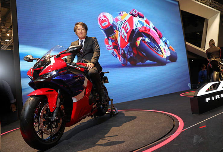 2020 Honda CBR1000RR-R Fireblade and Large Project Leader, Yuzuru Ishikawa