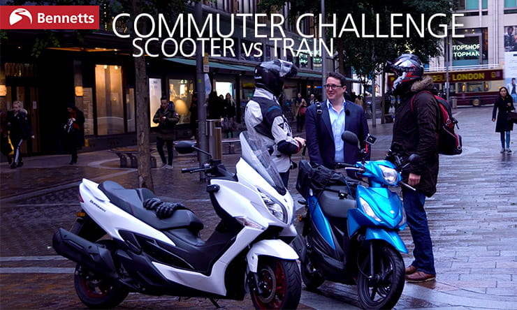 Suzuki Burgman 400 and Address 110 vs Southern Rail train