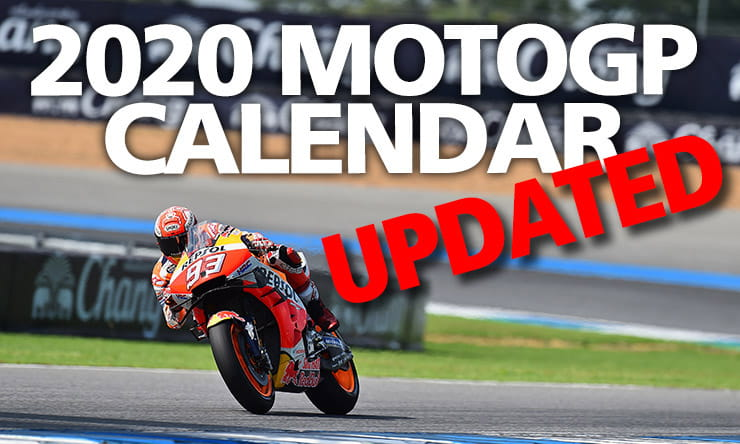 Revised post covid MotoGP calendar