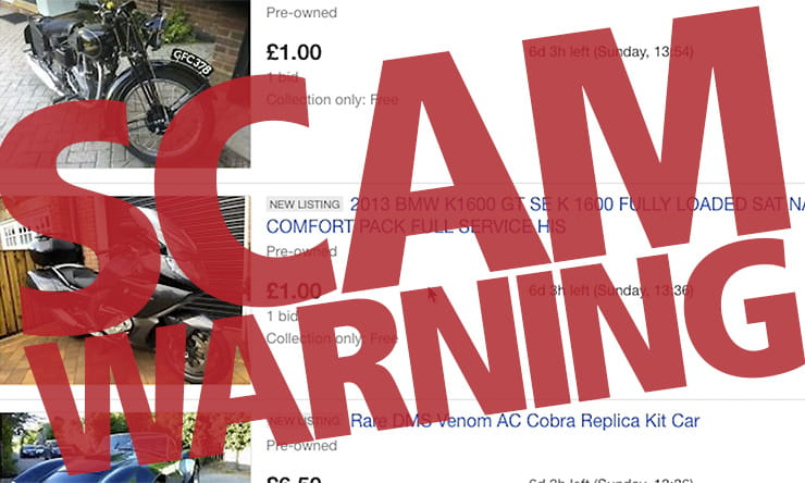 Thousands of motorcycles, scooters, cars, caravans and other vehicles are listed on eBay through a hacked account scam. Here's how to spot the fraud…