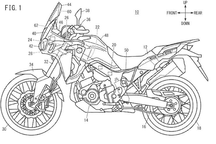 Honda developing touchscreen head-up display for bikes