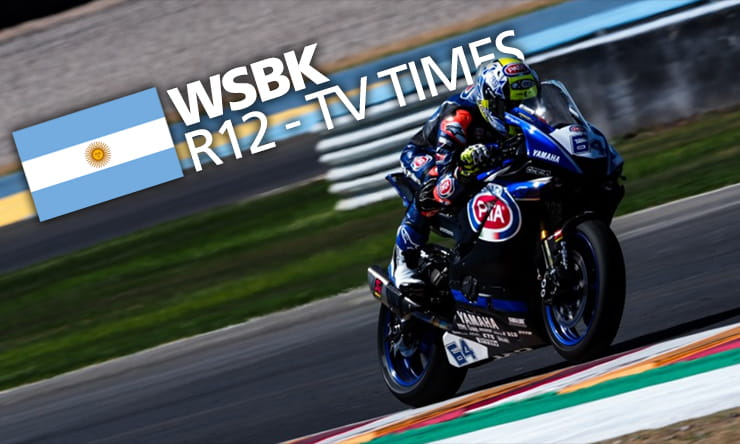 World Superbikes - Round 12 Argentina TV Times