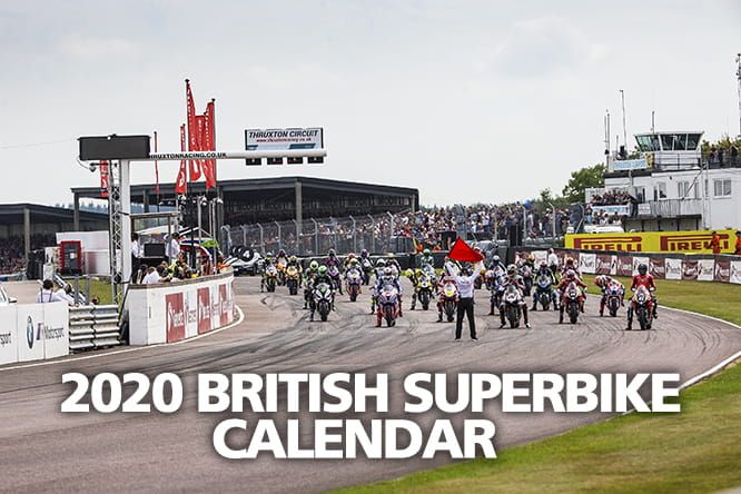 2020 British Superbike Dates Calendar BSB