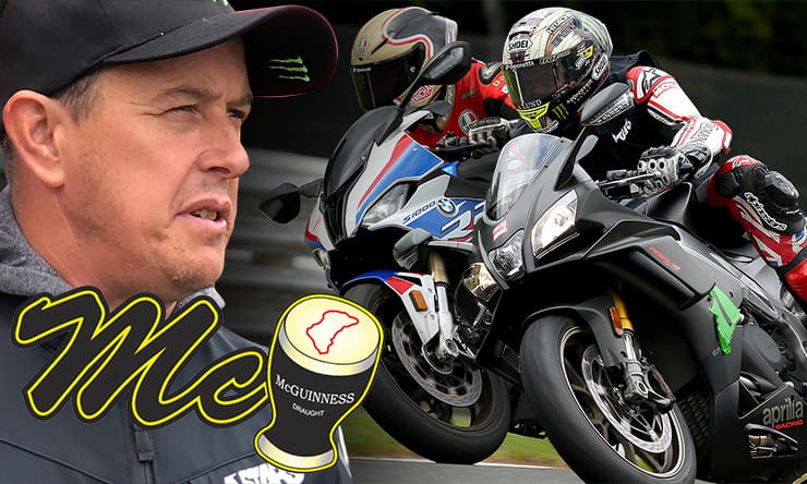 John McGuinness reviews the 2019 BMW S1000RR and Aprilia RSV4 1100 Factory