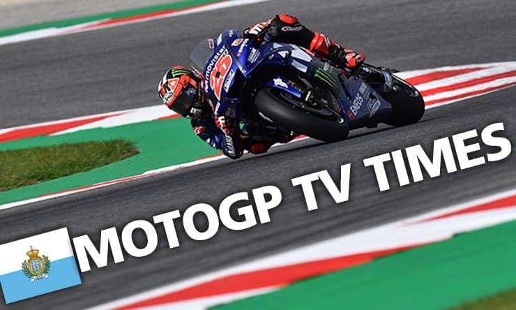 MotoGP Misano Preview TV Times
