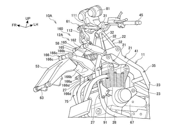 Honda developing wishbone front ends for inline fours and scooters