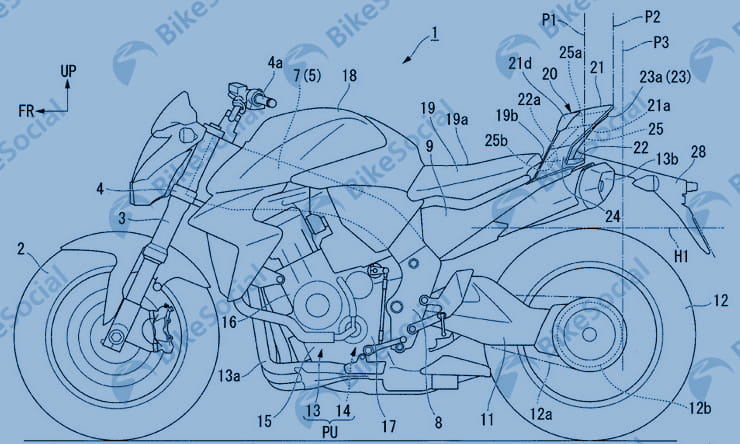 Honda patent shows unusual tail-end treatment to reduce drag and gain downforce