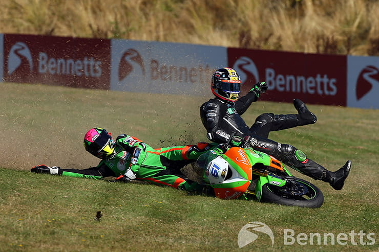We sat down with renowned Bennetts BSB photographer, Tim Keeton, to take a look back at over 100 crashes he has caught on film over the years.