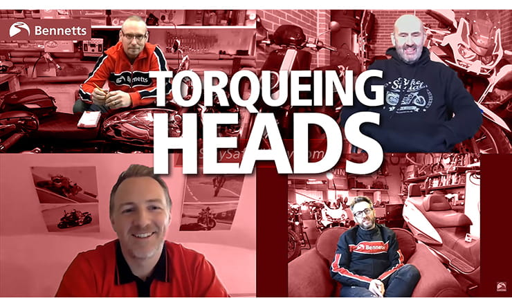 Join us for the first instalment of our new weekly chat show, Torqueing Heads. The Bennetts BikeSocial team introduce what's in their garage and run through the latest news, views and reviews