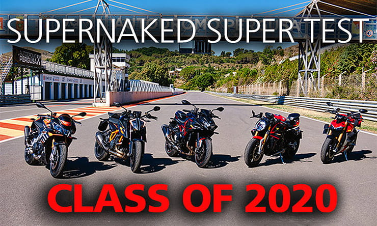 Five of the most powerful unfaired production bikes ever made go head-to-head on road and track in this ultimate 2020 super naked group test. Which will come out on top?