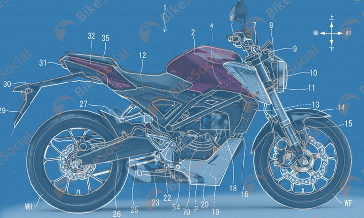 Patent reveals Honda CB125R-based electric prototype