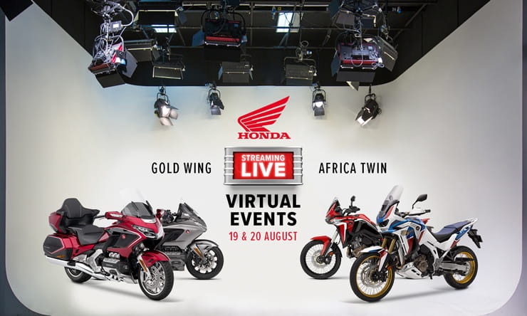 Potential Africa Twin and Gold Wing customers won't need to leave their living rooms to learn all about Honda's two flagship models live on YouTube