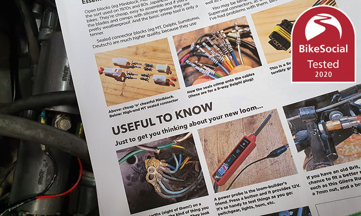 Understanding how to fully rewire a motorcycle – or just modify the loom – can be daunting, but the Rupe's Rewires guidebook gives step-by-step advice