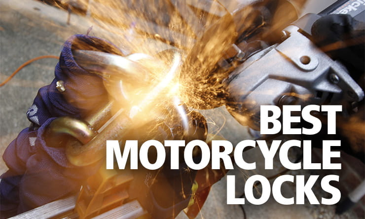Full destruction reviews of the best motorcycle chains, locks, disc-locks and security to keep your bike safe from theft whether at home or out and about