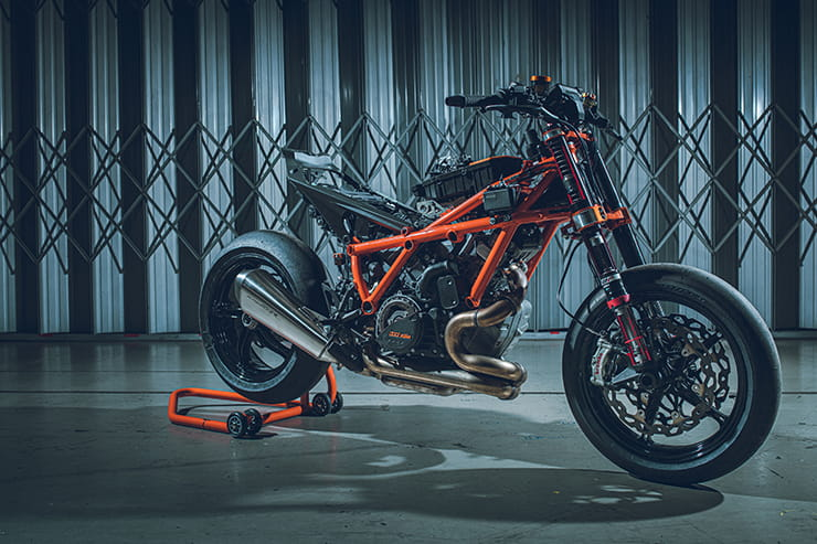 The third coming of KTM's bonkers hyper naked, the 1290 SUPER DUKE R, promises more power, less weight and triple the chassis stiffness.