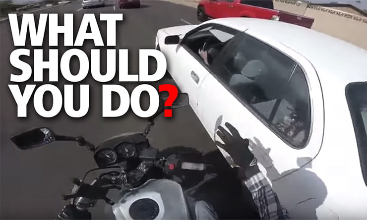What should you do if someone pulls out on you while riding a motorcycle? How road rage can lead to a criminal record…