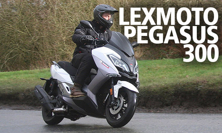 The first ever Lexmoto with a larger capacity than 125 is the remarkably well-equipped and potential bargainous 300cc maxi-scooter known as Pegasus.