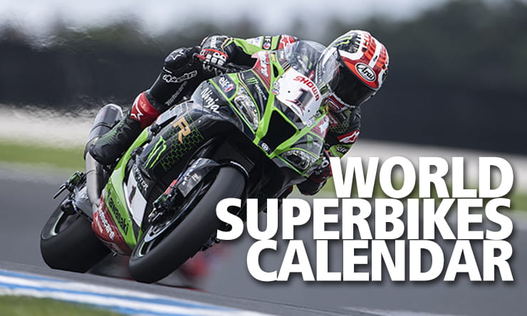 WSBK World Superbikes Calendar Tables Results TV Times
