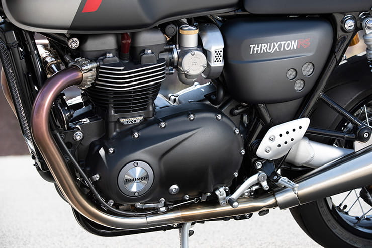 Updated for 2020 making it faster, lighter, revvier with better tyres and brakes, we ride the new Triumph Thruxton RS.