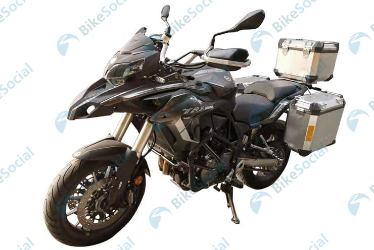 Best-selling Benelli TRK502 shown with new aluminium swingarm in leaked pictures