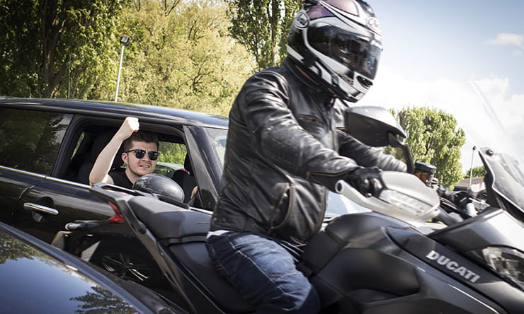 Research has shown that motorcyclists are less annoying than 86% of other road users, with elderly drivers, young men, lorries and taxis all more irritating