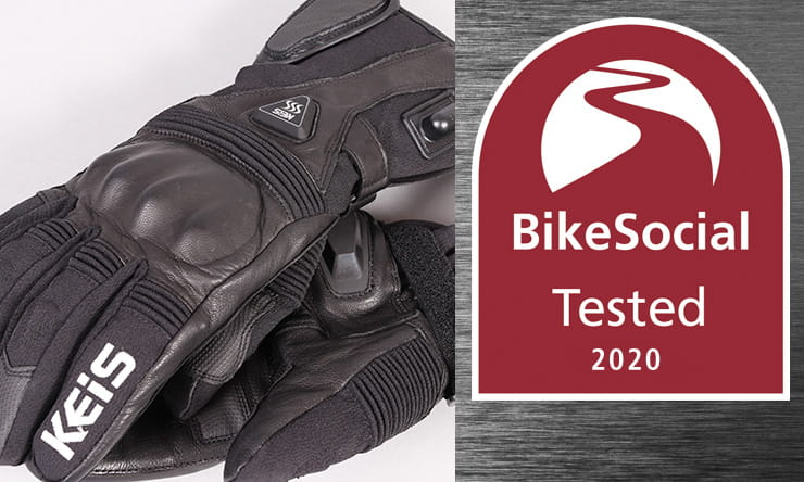 Waterproof, heated, armoured gloves powered from the bike battery or their own portable units