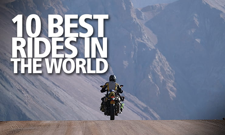 Around the world lap record holder, Nick Sanders, choses his favourite ten roads to ride on and there's Google Maps links too
