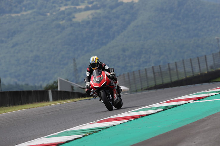 235hp, 152.2KG (with race kit), and huge downforce from the bi-plane wings, we take the incredible Ducati Superleggera V4 for a few hot laps of Mugello.