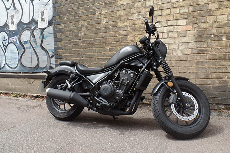 Entry level cruiser with attitude, or CB500 in gothic fancy dress? We review the 2020 Rebel SE to see if it is the best A2 compliant bobber.