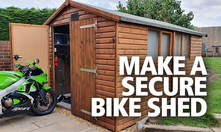 Can a metal or wooden shed, or a shipping container, be classed as garaged when you insure your motorcycle? Here's how to make your bike as safe as possible