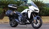 Single-sided swingarm, electric windscreen, TFT dash for Zontes VX310 tourer