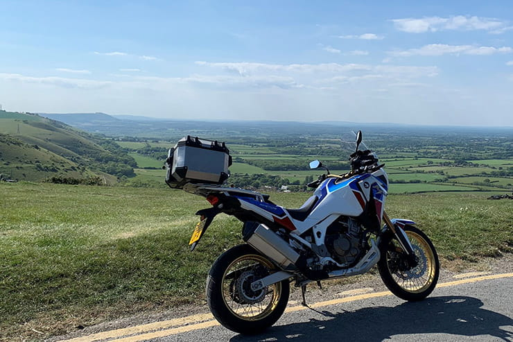 Honda's updated Africa Twin has more power, improved electronics, electronic suspension and better handling. It's about to take on Storm Ciara.