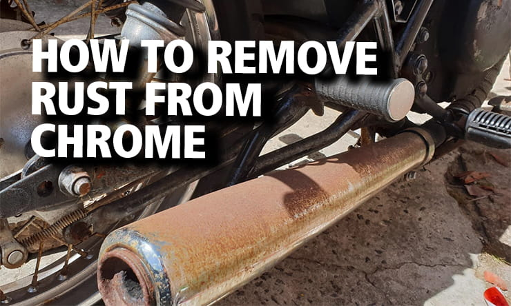 Though a bit of chrome might look rusty, chrome doesn't actually rust. Check out our step-by-step guide here with some handy tips for removing it.
