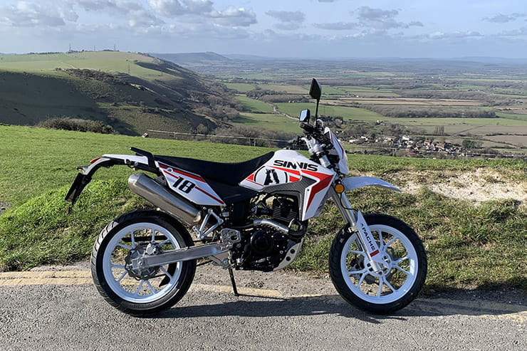 Sinnis' L-plate Supermoto has funky styling, perky performance and very high spec for just £2399