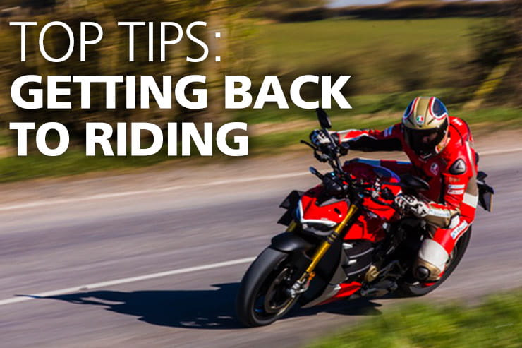 Non-essential travel is now acceptable but if you're getting back on your motorbike again then take a look over our advice first