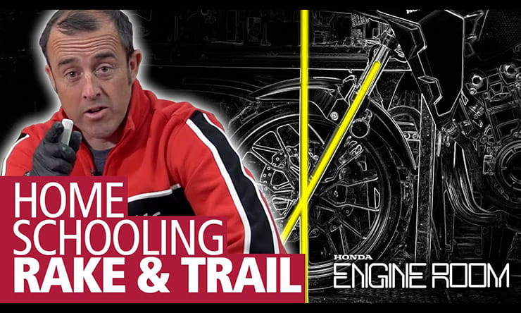 What does geometry mean and how do rake, trail and suspension settings affect a motorcycle?