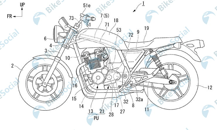 Hondamatic for the 21st century. Patents show semi-automatic Honda CB1100