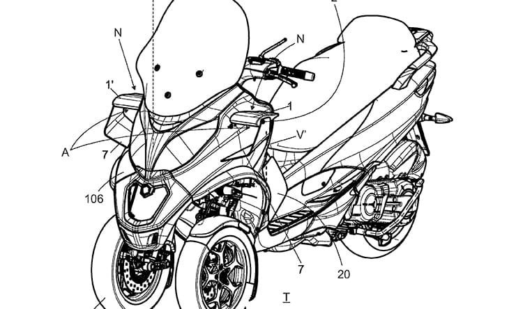 Moving winglets could help future two and three-wheelers tip into corners